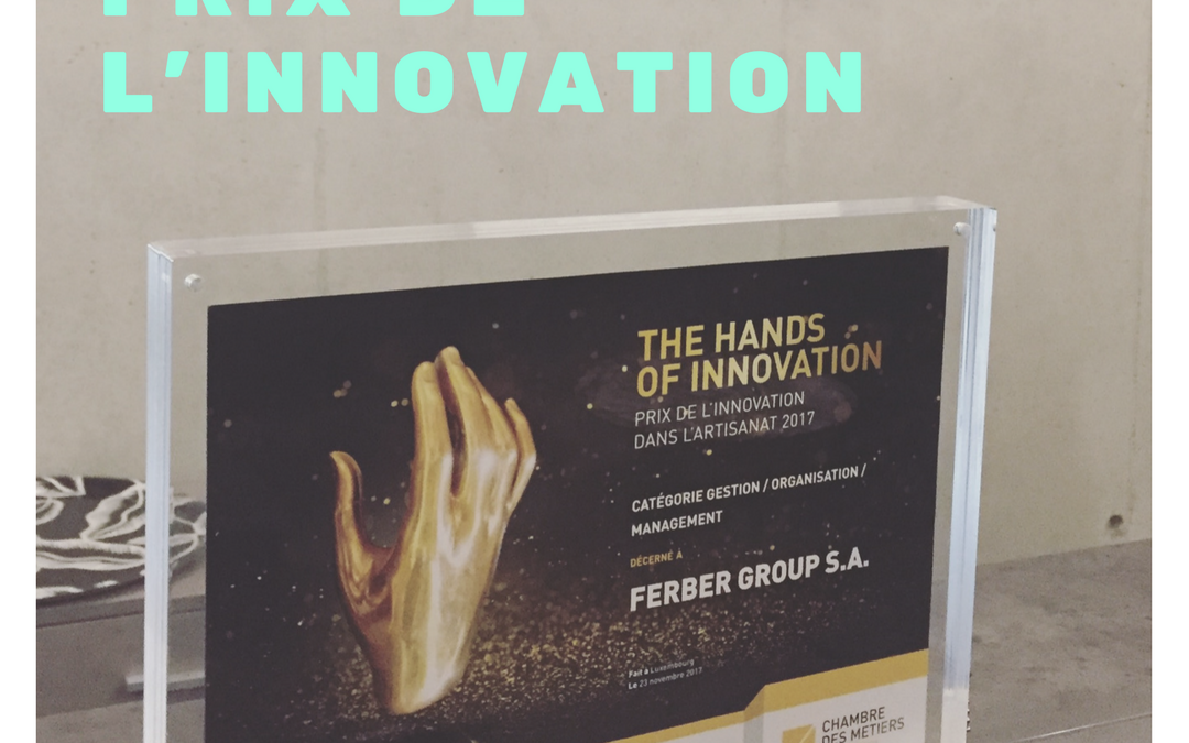 Le Ferber Group a remporté le Prix de l'innovation